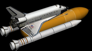 An almost complete 3D model of the space shuttle