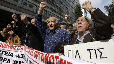 Manifestation de retraités à Athènes