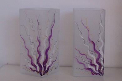 Lampen aus Glas natürlich auch in lila erhältlich