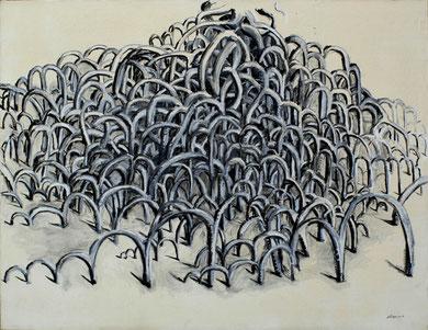 de la serie Mangrove Grande mangrove huile 165X130 cm