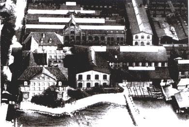 """Teilansicht der """"Kaiserlichen Torpedowerkstatt"""" Friedrichsort (Foto: Stadtarchiv Kiel)"""