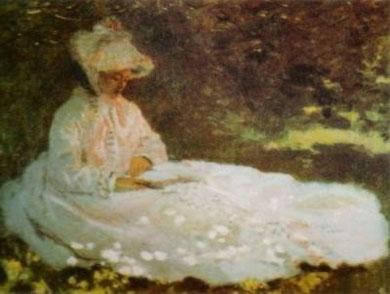 Claude Monet -Donna in lettura