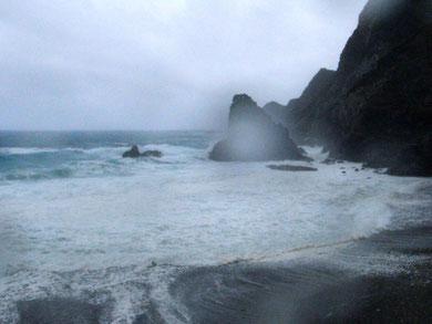ホノホシ海岸 台風11号