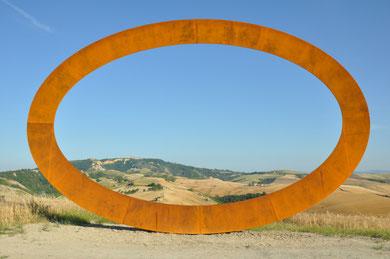 unser kartensujet: aussichtspunkt in volterra / toscana IT