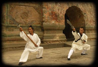 Yuan Xiugang y Alex Mieza