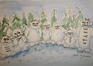 musikalische Schneemänner