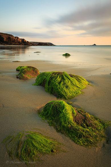 Strand bei Plouarzel, Finistere, Bretagne, Frankreich