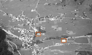 1928 gab es 4 Plätze in Klosters, beim Vereina und bei der heutigen Badi (Silvretta)