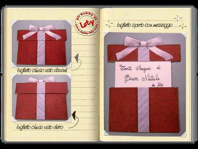 biglietto di auguri - scatola regalo