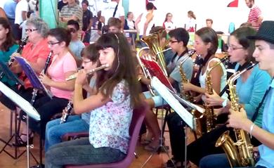 Elèves de l'Ecole de musique de Lombez & Samatan en concert