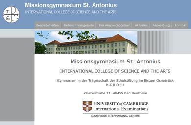 Internetauftritt des Missionsgymnasiums - hier auf das Bild klicken