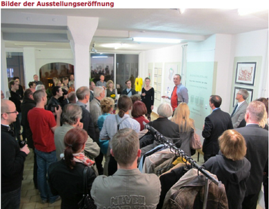 2012, exhibition opening, Gallery Forum K, Plauen, Germany