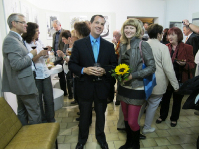 2012, Peter Ohser and Cindy Leitner at the prize winners exhibition opening at Forum K, Plauen, Germany