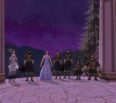 Gruppenbild mit Arwen in Imdolen