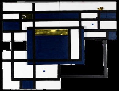 JINGU 12      670mm×502mm    P4*4    Wood, Brass, Acrylic 2019
