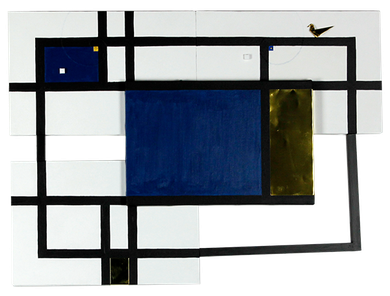 JINGU 13      670mm×486mm    P4*4    Wood, Brass, Acrylic 2019