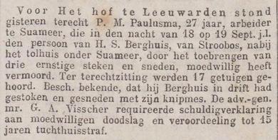 Het nieuws van den dag : kleine courant 16-12-1876 :  uitspraak