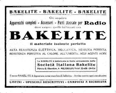 Opuscolo pubblicitario del 1926