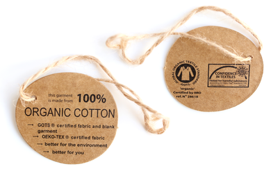 100% ORGANIC COTTON Etikett