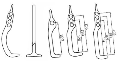 Mit dem Bogenhaken Multi Nummer 8022 für alle gängigen Roste und für seitliche Öffnung der Straßeneinlaufhaken T Nummer 8080 oder die Speziellen Straßeneinlaufhaken Nummer 8076, 8077, 8079 können folgende Abdeckungen ergonomisch geöffnet werden: