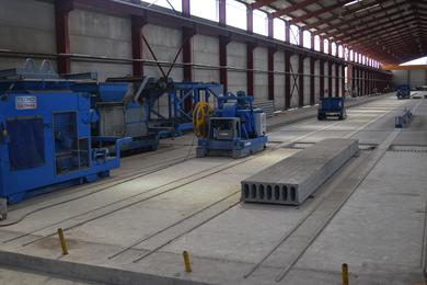 Hollow core slab machine - Used - Precast Concrete Machinery
