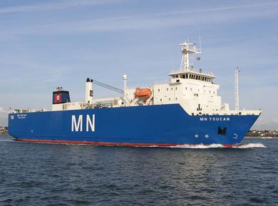 Le M/V MN Toucan de la Compagnie Maritime Nantaise, © CMN