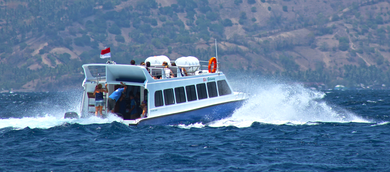 Gili Gateway Fastboat, formerly island gateway fastboat, fast boat that offers a direct transport service to and from Bali and Gili Trawangan without stopping in Padang Bai, Nusa Lembongan or Sengiggi