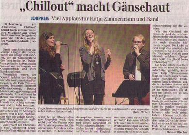 Artikel zum CHRISTMAS chillout Konzert am 15. Dezember in Dillenburg