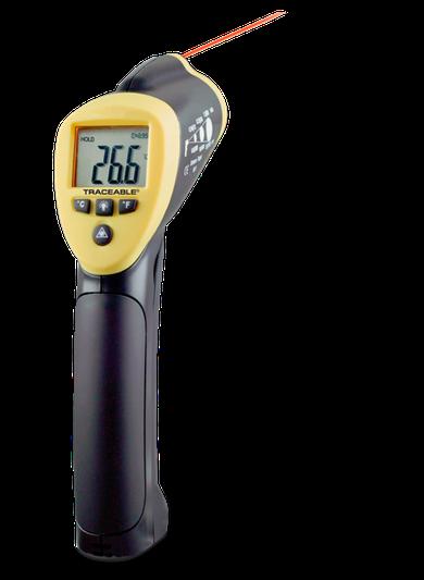 Termómetro infrarrojo tipo pistola con certificado trazable a NIST 4483