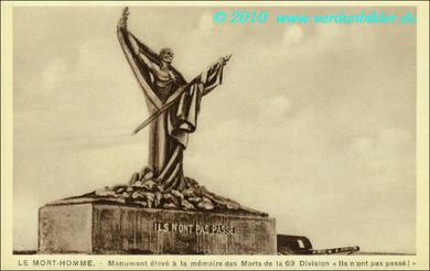 Mort Homme - Monument der 69. Division