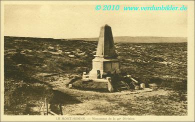 Mort Homme - Monument der 40. Division