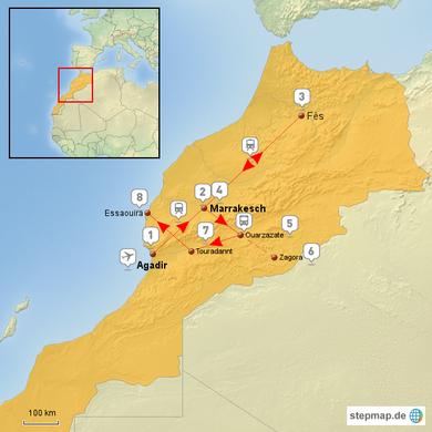 Marokko-Trekking - der Plan
