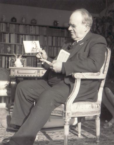 Erwin Bowien with the Swiss art patron Eduard M. Fallet - Von Castelberg