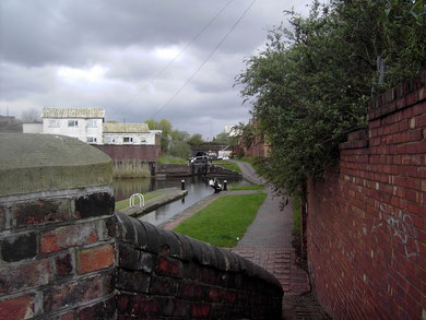 The Birmingham & Warwick Junction Canal, now the Grand Union, looking north. Ashted Tunnel is in the distance.