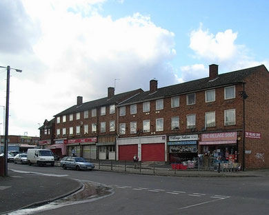 Lea Village, viewed from the corner of Moodyscroft Road