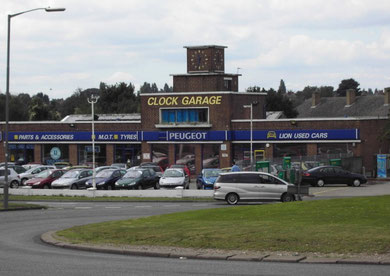The Clock Garage, now demolished