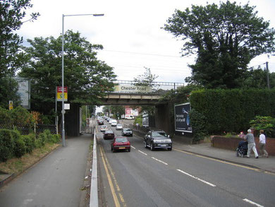 Looking south-east along the Chester Road at Chester Road Station. Image from Geograph OS reference SP1193 © Copyright David Stowell reusable under Creative Commons Licence Attribution-Share Alike 2.0 Generic.
