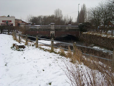 Bridge over the Cole on the Stratford Road. The photographer is standing pretty much on the site of Greet Mill. Image downloaded from flickr © 'All Rights Reserved' Fenchurch again/ Hannah R H Newton and used with her kind permission.