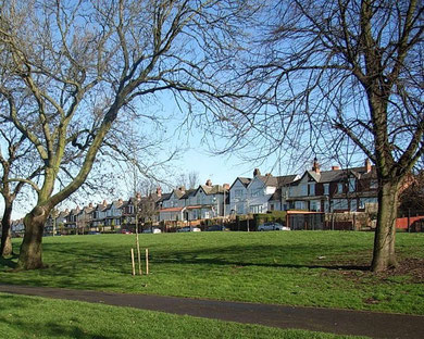 Adderley Park looking towards Hams Road