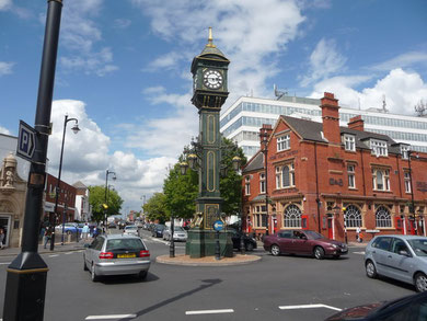 Chamberlain clock. Image by Jeremy Bolwell on Geograph SP0687 reusable under Creative Commons licence Attribution-ShareAlike 2.0 Generic (CC BY-SA 2.0)