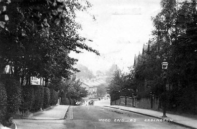 Wood End Lane 1930. Image, now free of copyright, downloaded from the late Peter Gamble's Virtual Brum website. See Acknowledgements.
