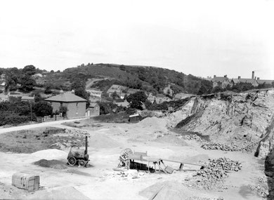 Rubery Hill viewed from Leach Green Lane photographed by J Rhodes in 1921 - image from Geoscenic, the British Geological Survey website used in accordance with their terms and conditions. See Acknowledgements.
