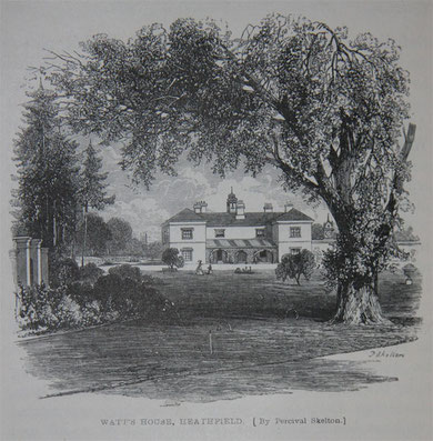Heathfield Hall from Samuel Smiles 1865 'Lives of Boulton and Watt', a work now out-of-copyright. Image downloaded from Grace's Guide website. See Acknowledgements.