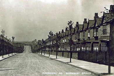 Churchill Road - Buy this card from Dave Gregory's Postcards of the Past with whose kind permission it is used here.  See Acknowledgements