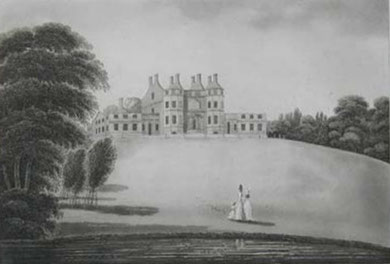 Bordesley Hall drawn by P H Witon Jnr in 1791. Image believed to be public domain.