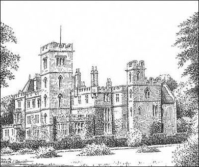 New Hall drawn in 1950. Thanks for the use of this image to E W Green, Historic Buildings in Pen & Ink - The Work of William Albert Green. See Acknowledgements.
