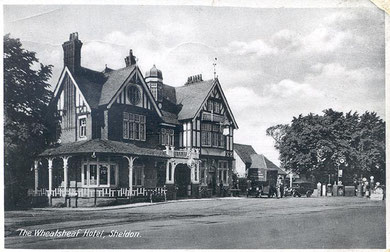 The Wheatsheaf, Sheldon 1930. Image in the public domain from the late Peter Gamble's Virtual Brum website.