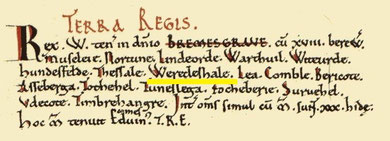 Rednal's entry in the Domesday Book from Open Domesday.