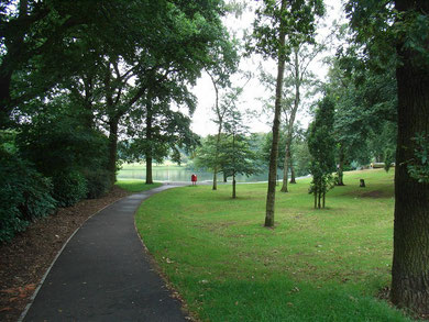 Swanshurst Park, viewed from Swanshurst Lane