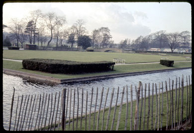Site of Perry Hall, the view south-east towards Hamstead Hill. Photographed in 1967 by Phyllis Nicklin - see Acknowledgements, Keith Berry.